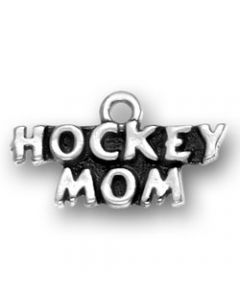 Sterling Silver Hockey Mom Charm SS-1265