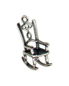 Sterling Silver Chair Charm: Rocking Chair