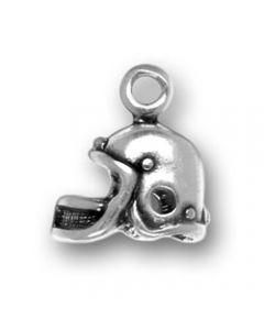 Sterling Silver Football Helmet Charm T-613