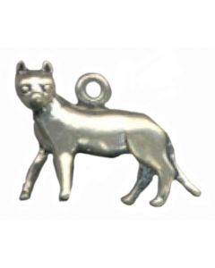 Sterling Silver Cat Charm: Standing T-638