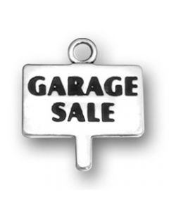 Sterling Silver Garage Sale Sign Charm