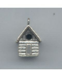 Sterling Silver Birdhouse Charm T-644-DC