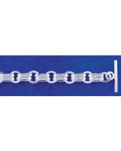 Sterling Silver Bracelet: Link: w/ Toggle Clasp  TB-TOG 010 - 7.5 or 8.5 inch