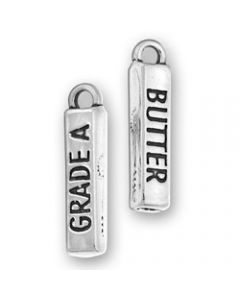 """Sterling Silver Butter Charm: Stick Of """"Butter"""""""