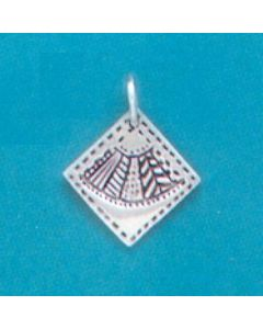 Sterling Silver Quilt Square Charm: Fan