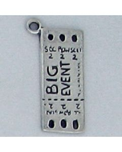 "Sterling Silver Ticket Charm: ""Big Event""/""Admit One"""