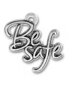 "Sterling Silver Twilight Inspired ""Be Safe"" Charm"