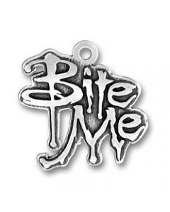 "Sterling Silver Twilight Inspired ""Bite Me"" Charm"