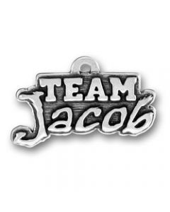 "Sterling Silver Twilight Inspired ""Team Jacob"" Charm"