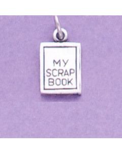 Sterling Silver Scrapbook Charm