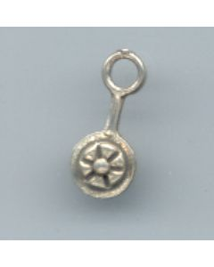 Sterling Silver Baby Rattle Charm U-680