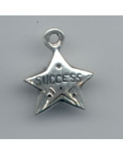 "Sterling Silver Success Charm: ""Success"" On Star"