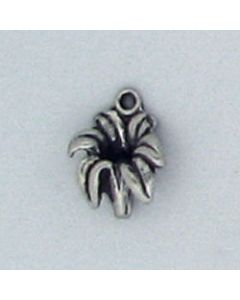 Sterling Silver Flower Charm: Lily