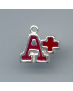Sterling Silver A+ Charm: Red Enamel