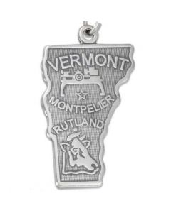 Sterling Silver State of Vermont Charm