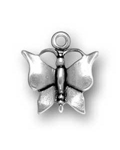 Sterling Silver Butterfly Charm W-717