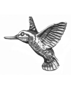 Sterling Silver Bird Charm: Hummingbird