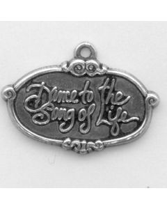 Sterling Silver Dance To The Song Of Life Charm