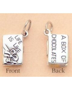 Sterling Silver Chocolate Box Charm