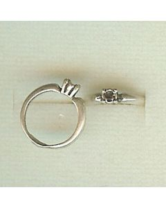 Sterling Silver Wedding Engagement Ring Charm