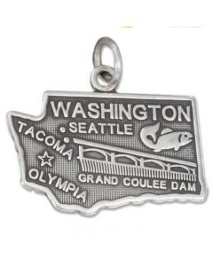 Sterling Silver State Of Washington Charm