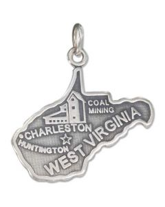 Sterling Silver State Of West Virginia Charm
