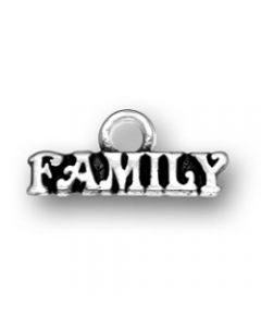 """Sterling Silver """"Family"""" Charm WW-1372"""