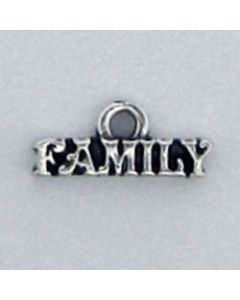 "Sterling Silver ""Family"" Charm: Small"