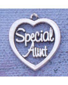 "Sterling Silver Aunt Charm: ""Special Aunt"""