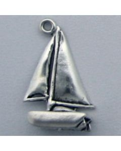 Sterling Silver Boat Charm: Catamaran