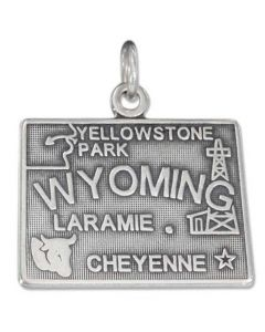 Sterling Silver State Of Wyoming Charm