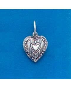 Sterling Silver Heart Charm: Puff, Tiny  X-778
