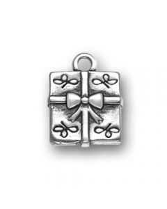 Sterling Silver Present Charm X-782