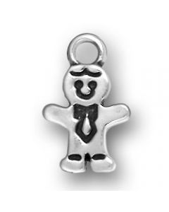 Sterling Silver Boy Charm: Small  Y-791