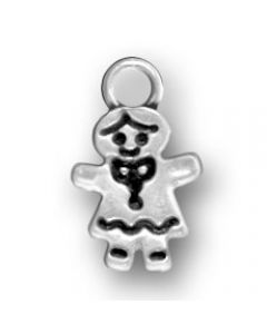 Sterling Silver Girl Charm: Girl, Small Y-796