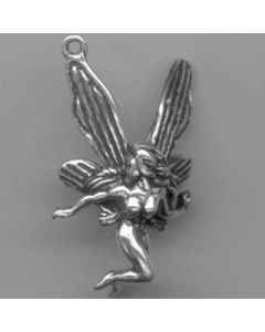 Sterling Silver Fairy Charm: Celestial Flying