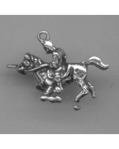 Sterling Silver Knight Charm: On Horse