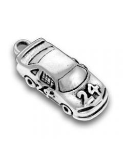 Sterling Silver Racecar Charm: #24