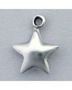 Sterling Silver Star Charm: Tiny, 9Mm