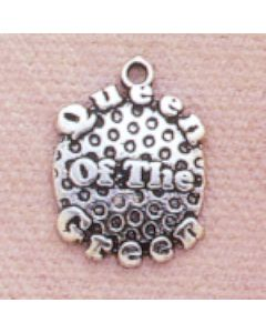 Sterling Silver Golf Charm: Queen Of The Green YY-1434
