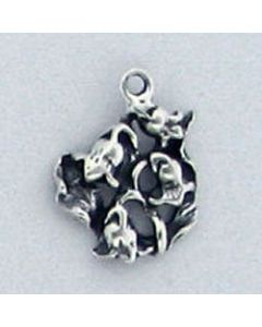 Sterling Silver Flower Charm: Lily (May Birth Month Flower)