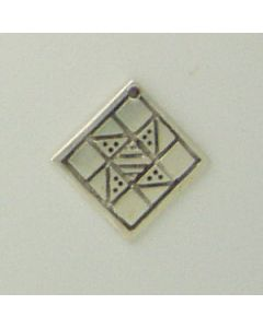 Sterling Silver Quilt Square Charm: Friendship Star