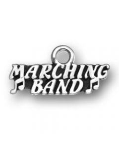"""Sterling Silver Band Charm: """"Marching Band"""""""