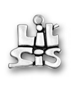 "Sterling Silver Sister Charm: ""Lil' Sis"" Z-847"