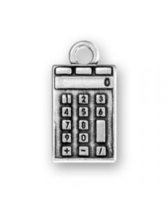 Sterling Silver Calculator Charm