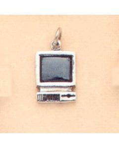 Sterling Silver Computer Charm ZZ-1482