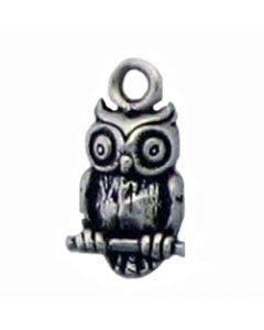 Sterling Silver Bird Charm: Owl, Mini