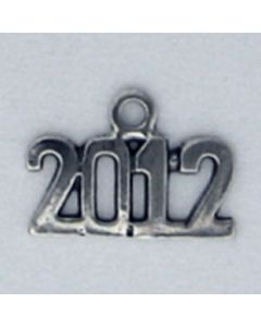 Sterling Silver Graduation 2012 Year Charm ZZZ-2513